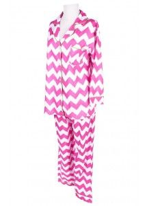 Chevron Pink Pajama Set