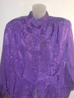Vintage 1980s SK company Purple Floral by PatsapearlsBoutique, $9.99