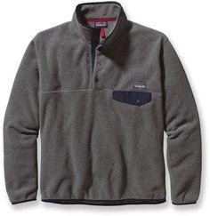 Patagonia Men's Lightweight Synchilla Snap-T Fleece Pullover Nickel/Navy Blue XXL
