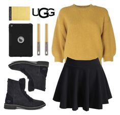The New Classics With UGG: Contest Entry by rina-prescott on Polyvore featuring polyvore, fashion, style, 3.1 Phillip Lim, WithChic, UGG, Urban Decay, Rifle Paper Co, clothing and ugg