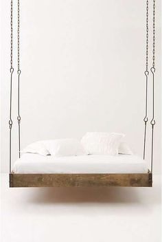 Floating Sleep Stations - Rest on the Barnwood Hanging Bed and Sway Gently (GALLERY)