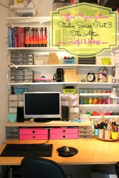 Office Organization - Organized by Color