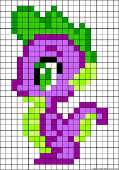 My Little Pony Spike perler bead pattern http://mistertrufa.net/librecreacion/culturarte/?p=12
