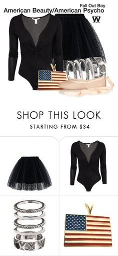 """Fall Out Boy"" by wearwhatyouwatch ❤ liked on Polyvore featuring Chicwish, NLY Trend, House of Harlow 1960, Vintage, Ballet Beautiful, music, wearwhatyouwatch and musicvideo"