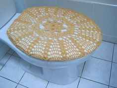 Crochet Toilet Seat Cover My Creations Pinterest Toilets Crochet And S