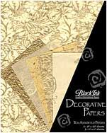 Golden Glow- These assorted paper packs from Thailand feature great color combinations, perfect for paper crafting, card making, book arts, collage and m...