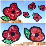 Easy DIY Poppy Suncatchers - this is a great Remembrance Day Activity for Preschoolers. It looks really effective and is a great way to start a conversation about Remembrance Day and why we observe it! Love this easy Poppy Craft for Kids. Poppy Craft For Kids, Easy Crafts For Kids, Toddler Crafts, Preschool Crafts, Art For Kids, Remembrance Day Activities, Memorial Day Activities, Remembrance Day Poppy, Paper Plate Poppy Craft