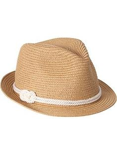 Womens Straw Braided-Trim Fedoras, oldnavy.com. Perfect for summertime!