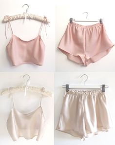 Silk cami // Silk shorts #pyjamas #chic
