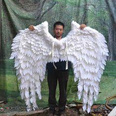 Trajado branco da pena do anjo asas janela Exibe Decorações adereços de penas Especiais tiro asas de fada EMS frete grátis em   de   no AliExpress.com | Alibaba Group