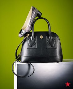 Upgrade your workweek essentials with a pair of block heel dress pumps and a sleek leather satchel from Anne Klein. Perfect for pairing with a pantsuit or a sheath dress, these accessories are sure to standout in any boardroom.