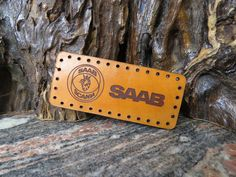 SAAB Patch sew-on cap or jacket badge Genuine leather 531 Thick Leather, Natural Leather, Sewing Leather, Sew On Patches, Cowhide Leather, Laser Engraving, Badge, Im Not Perfect, Cap