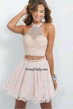 2 Piece Homecoming Dress,Short Homecoming Dresses,Tulle Homecoming Gown,Blush Pink Homecoming Dress,Beautiful Prom Gown from OKProm 2 Piece Homecoming Dresses, Hoco Dresses, Prom Gowns, Dance Dresses, Pretty Dresses, Beautiful Dresses, Dresses For Teens Dance, Wedding Dresses, Freshman Homecoming Dresses