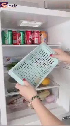 Kitchen Storage Refrigerator Partition Storage Rack – diy home crafts Cool Kitchen Gadgets, Home Gadgets, Cool Kitchens, Cooking Gadgets, Diy Kitchen Storage, Home Decor Kitchen, Kitchen Design, Rv Storage, Shop Storage