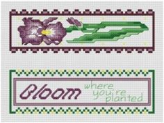 Garden inspired cross stitch pattern from traditional to modern: Bloom Where You Are Planted