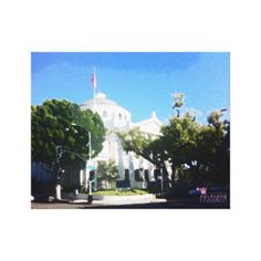First Church of Christ Watercolor Paint Stretched Canvas Prints