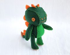Stegosaurus Wool Felt Designer Plush Art Doll  by nonesuchgarden, $100.00