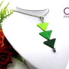 Tripla háromszög nyaklánc – zöld Jewelry, Fashion, Moda, Jewlery, Bijoux, Fashion Styles, Schmuck, Fasion, Jewerly