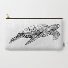 """Color+Therapy""+Sea+Turtles+Carry-All+Pouch+by+Artsy+Pixie+Media+By+Kara+Mae+Adamo+-+$18.00"