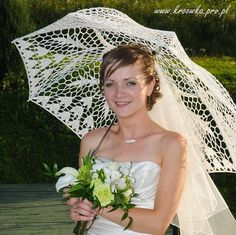 Hey, I found this really awesome Etsy listing at https://www.etsy.com/listing/78855897/white-or-ivory-parasol-wedding-crochet