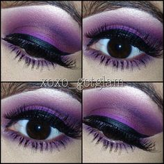 Purple makeup, I would love to try this one day.