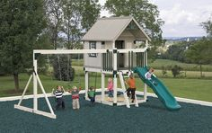 Maintenance-free vinyl swing sets will be there for your kids, and your grandkids!
