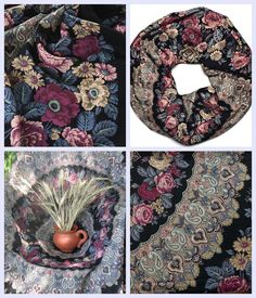 Russian Pavlovsky Posad shawl Black