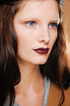bleached brows // oxblood lip