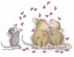 """""""Happy Valentine's Day from the House-Mouse Gang!"""" from House-Mouse Designs®"""