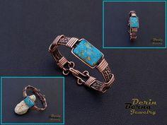 Free Shipping Men copper cuff bracelet,Copper Wire Men Cuff Bracelete,Men Bracelet with turquoise,Men Accesory,Men Cuff Bracelet,Men Jewelry by BernaDerinJewelry on Etsy