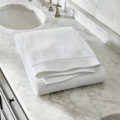 Egyptian Cotton White Bath Sheet - Crate and Barrel