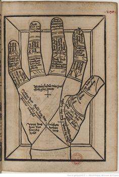 Titre :  Die Kunst Ciromantia  Auteur :  Hartlieb, Johann  Éditeur :  Jörg Schapf (Augsburg)  Date d'édition :  1490-1495  XYLO-41  Folio 290r