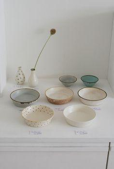 Plates bowls ceramics