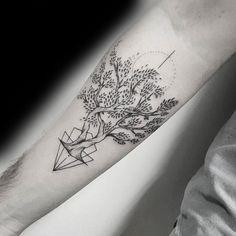 30 Olive Tree Tattoo Designs for Men Olea Europaea Ink Ideas Tree Tattoo Meaning, Tree Tattoo Men, Tree Tattoo Designs, Tree Designs, Geometric Tattoo Tree, Geometric Trees, Pine Tattoo, Olive Tree Tattoos, Familie Symbol