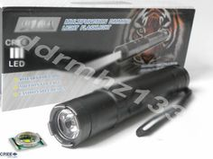 Tourch Flashlight with Electric-Shock POLICE + 4 functions .. #black