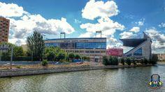 Ribera del manzanares. El estadio Vicente Calderón. Madrid, Spain.  #estadio #stadium #vicentecalderon #madrid #riberadelmanzanares #madridrio #españa #spain