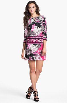 Donna Morgan 'Julie' Print Matte Jersey Shift Dress available at #Nordstrom