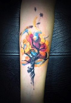 """10 Watercolor Tattoos That Will Make You Say """"Wow""""   Tattoo.com"""