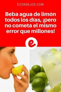 Salud Natural y Bienestar | Beba agua de limón todos los días, ¡pero no cometa el mismo error que millones | Beber agua con limón por la mañana con el estómago vacío se ha convertido en la rutina principal de la mañana para millones de personas en todo el mundo. Y hay una buena razón para ello...