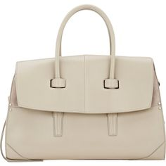 Narciso Rodriguez Aya Day Bag (3,605 PEN) ❤ liked on Polyvore featuring bags, handbags, colorless, clear purse, genuine leather handbags, leather handbags, satchel purse and white leather satchel