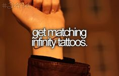 matching infinity tattoos