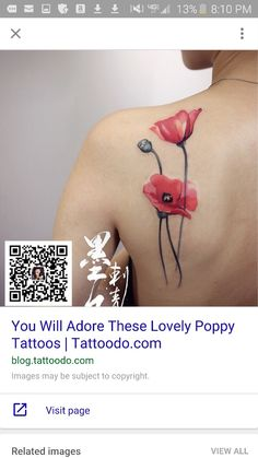 Poppy tattoo                                                                                                                                                                                 More