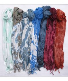 One of a Kind Hand Woven Tie Dye Scarves by Shabd