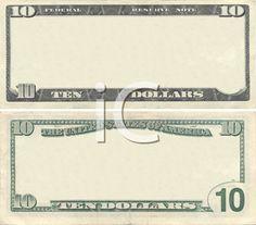 Digital Scrapbooking Background - Money Templates