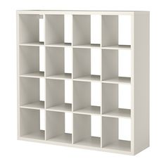 kallax-shelving-unit-white - also gives sizes for clear sterilite plastic boxes