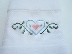 Guest Towels Velour Bathroom Towel Set Cross by WitsEndDesign