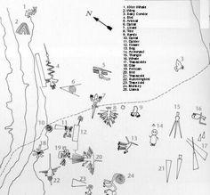 Nazca lines chart Nazca Lines Peru, Nazca Peru, Machu Picchu, Peru Map, Human Personality, Medicine Wheel, Family Tree Wall, Mystery Of History, Peru Travel
