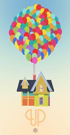 Up film Pixar - illustration Up Pixar, Disney Pixar Up, Disney Amor, Disney Love, Disney Magic, Walt Disney, Disney Posters, Movie Posters, Disney Kunst