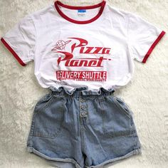 Hillbilly Funny Pizza Planet Letter Printed Women Tshirt Harajuku Short Sleeved Summer Top Plus Size Elastic Basic t shirt Women Source by lelbruns disney outfits Cute Disney Outfits, Disney World Outfits, Disneyland Outfits, Outfits For Teens, Trendy Outfits, Cool Outfits, Summer Outfits, Disneyland Outfit Summer, Disney Themed Outfits