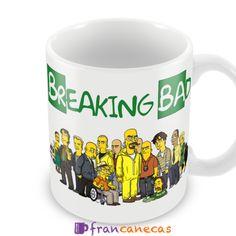 Caneca Personalizada Breaking Bad Simpsonizada Ideal para presentear colaboradores, amigos ou pessoas especiais. Canecas personalizadas Prem...